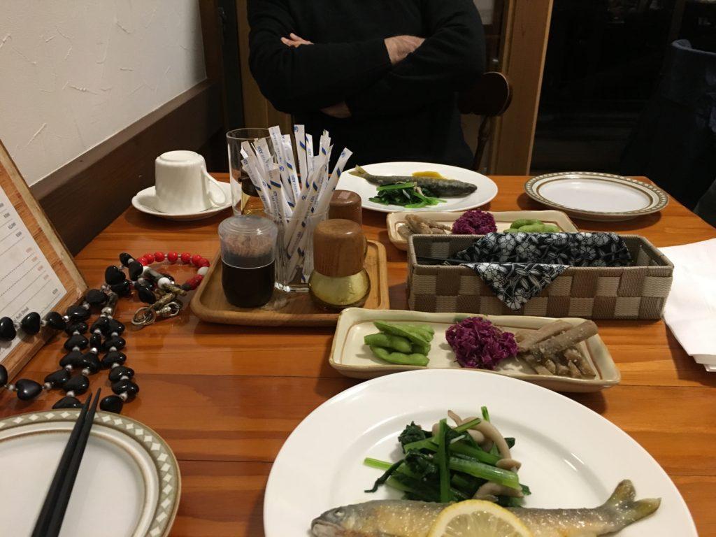 ポレポレでの夕食