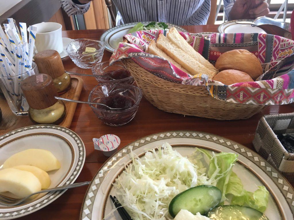 ポレポレでの朝食